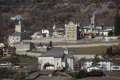Старый замок в Leuk Стоковое фото RF