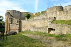 Старый замок губит Kyrburg в Kirn, Германии Стоковое Фото