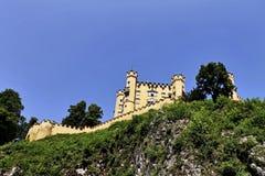 Старый замок на горе Стоковое Изображение RF