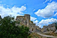 Старый замок на месте Srebrenik стоковое фото rf