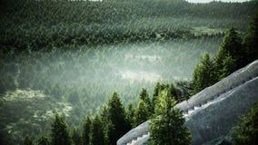 Старый замок сказки на холме вид с воздуха Реалистическая анимация 4K иллюстрация вектора