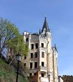 Старый замок с башнями и steeples Стоковое Изображение RF