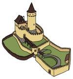 Старый замок Стоковые Изображения