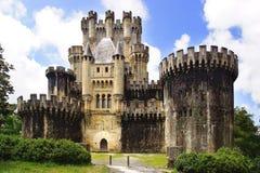 Старый замок Butron, Испания Стоковое Изображение RF