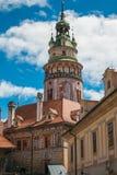 Старый замок Cesky Krumlov, Богемии, чехии Стоковая Фотография RF