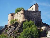 Старый замок Corte, Corse, Франция стоковое изображение rf