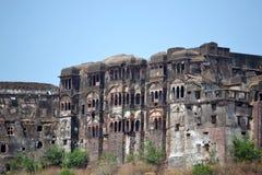Старый замок narsinghgarh, MP, Индии стоковое фото rf