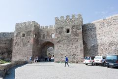 Старый замок Rabati городка в Akhaltsikhe в южном Georgia Стоковое Изображение RF