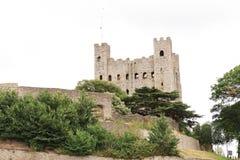 Старый замок Rochester в Кенте Великобритании Англии Стоковое Изображение RF