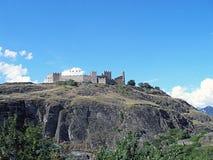 Старый замок Tourbillon в Швейцарии Стоковые Изображения RF