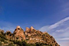 Старый замок Yilankale змейки в под открытым небом со звездами в часе сумер стоковое фото