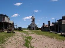 Старый западный городок Стоковая Фотография