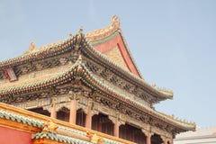 Старый запретный город Китай дворца Шэньяна Пекина имперский Стоковое Изображение