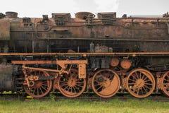 Старый заржаветый локомотив пара Стоковая Фотография