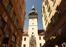 Старый здание муниципалитет в Брне, чехии Стоковые Фотографии RF