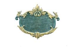 Старый зеленый знак с белой предпосылкой Стоковое Изображение RF