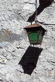 Старый зеленый фонарик стены Стоковое Изображение