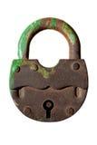 Старый зеленый padlock Стоковое фото RF