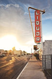 Старый знак винного магазина Стоковая Фотография RF