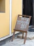 Старый знак гостиницы, старый городок Пловдива, Болгарии Стоковое Изображение RF