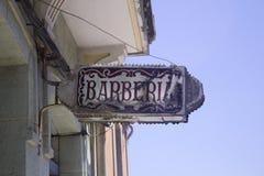 Старый знак парикмахерскаи Стоковая Фотография RF