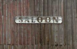 старый знак салона Стоковые Фотографии RF
