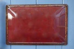 Старый знак эмали, знак металла, знак информации стоковые изображения rf