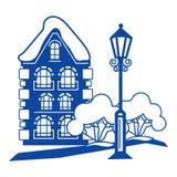 Старый значок дома, простой стиль бесплатная иллюстрация