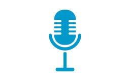 Старый значок микрофона Силуэт микрофона Бесплатная Иллюстрация