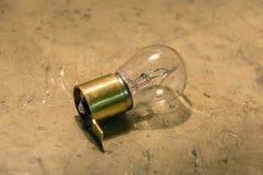 Старый золотой шарик с проводом Стоковая Фотография RF