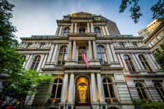Старый здание муниципалитет, в Бостоне, Массачусетс Стоковое Изображение