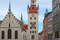 Старый здание муниципалитет в Мюнхене, немецком Стоковые Изображения RF