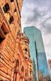 Старый здание муниципалитет, здание романск гражданское и здание суда в Торонто, Канаде Стоковое Фото