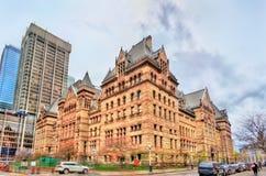 Старый здание муниципалитет, здание романск гражданское и здание суда в Торонто, Канаде Стоковые Изображения RF