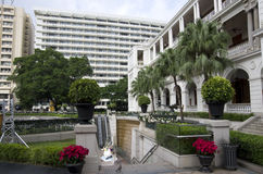 Старый дизайн сада архитектуры Стоковое фото RF