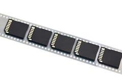 Старый изолированные фильм и современные цифровые карточки SD компакта Стоковые Фотографии RF