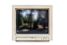 Старый изолированный монитор компьютера Стоковые Изображения