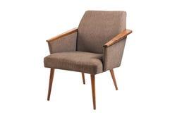 Старый изолированный стул Стоковое Изображение RF