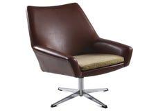 Старый изолированный стул Стоковые Изображения