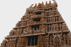 Старый индусский висок на belur, Karnataka, Индии стоковые фотографии rf