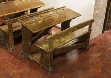 Старый интерьер класса Стоковое фото RF