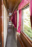 Старый интерьер фуры поезда стоковое фото rf