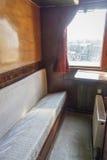 Старый интерьер фуры поезда стоковая фотография