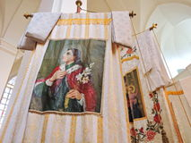 Старый интерьер церков, Литва Стоковая Фотография
