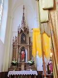 Старый интерьер церков, Литва Стоковые Изображения RF