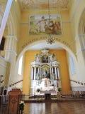 Старый интерьер церков, Литва Стоковые Изображения
