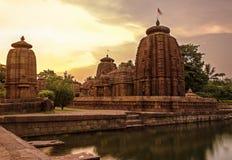 Старый индийский висок стоковые фотографии rf