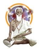 Старый индийский знахарь Jivaka, доктор Будды Стоковые Изображения
