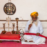 Старый индийский человек с красивейшей бородой Стоковое Изображение