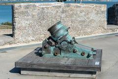 Старый испанский миномет стоковое фото rf